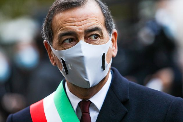 Mayor of Milan Beppe Sala is seen during the Commemoration of the Piazza Fontana bombing in Milan, Milan,...
