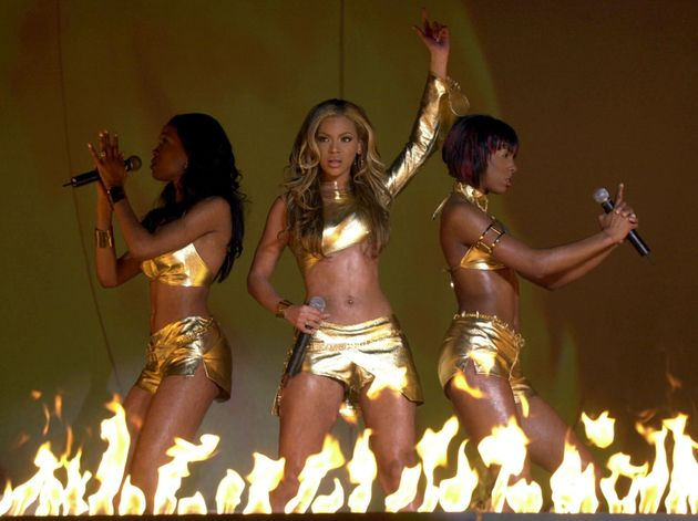 Destiny's Child brought the fire (literally!) during their 2001 Brit Awards