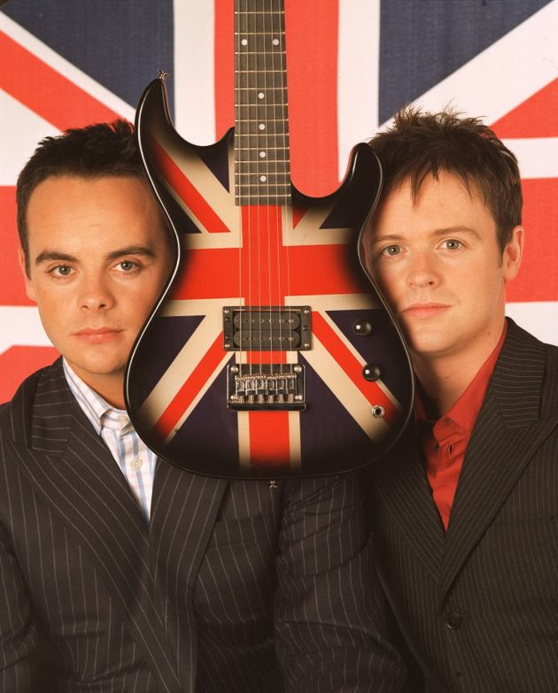 Ant, Dec and a giant Union Jack guitar for some