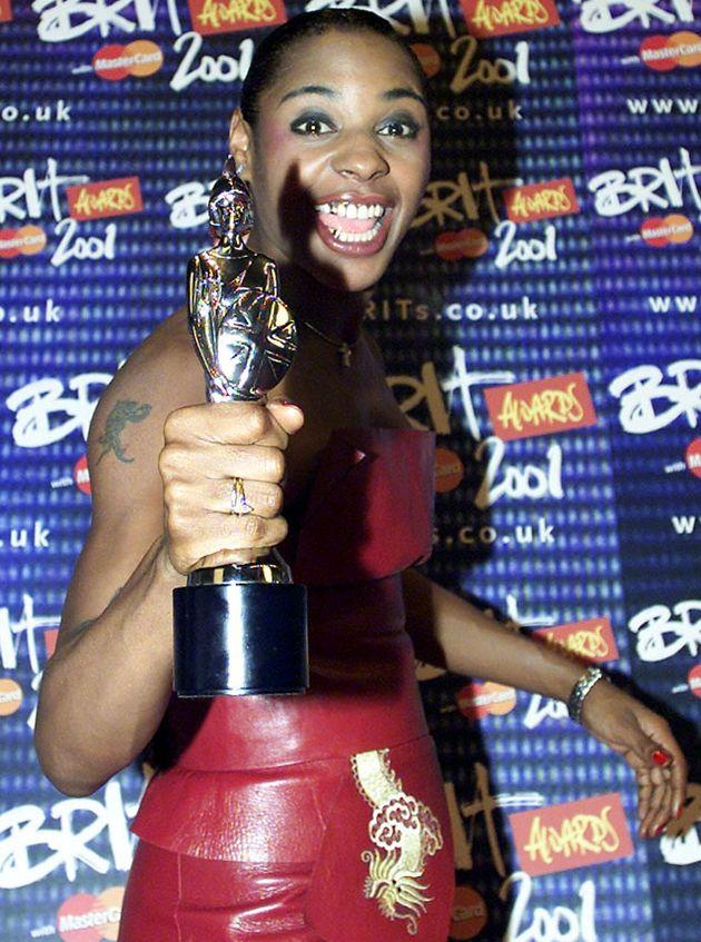 Sonique backstage at the 2001 Brit