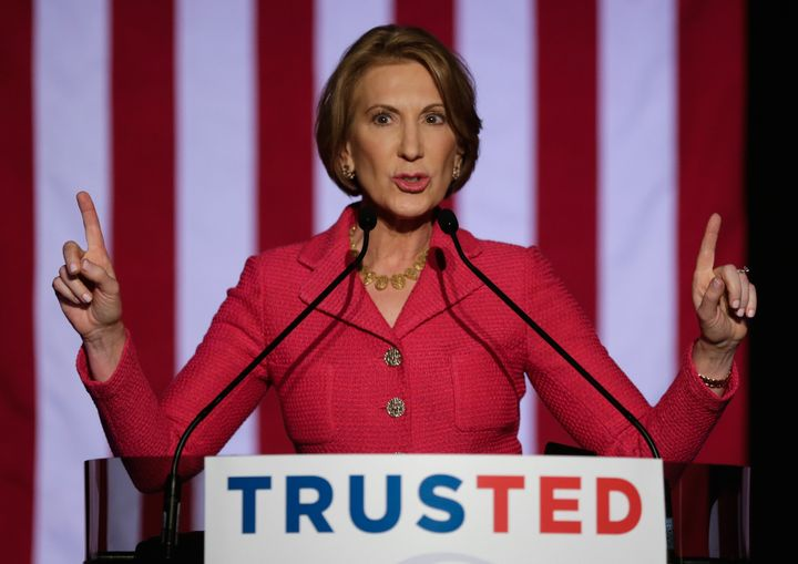Sen. Ted Cruz in 2016 named Carly Fiorina,pictured, as his vice presidential candidate if he won the GOP nomination.