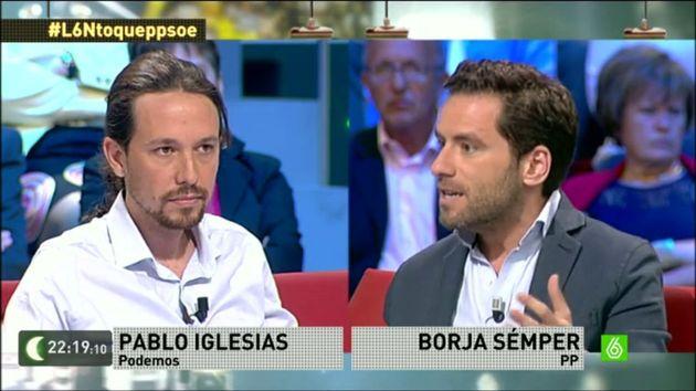 Pablo Iglesias y Borja Sémper, en 'LaSexta