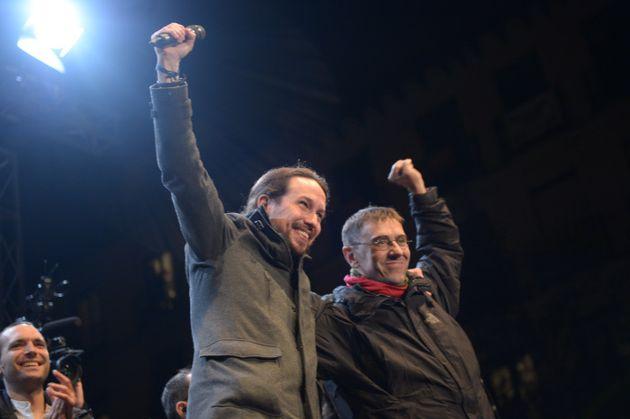 Pablo Iglesias y Juan Carlos