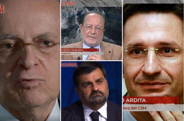 Da sinistra, Piercamillo Davigo, Alfredo Robledo, Luca Palamara, Sebastiano