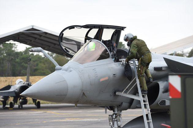 Photo d'illustration d'un avion de combat Rafale de l'Armée de l'air (Photo MEHDI FEDOUACH /