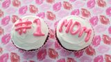 Chocolate cupcake with icing message for Mothers Day or Birthday