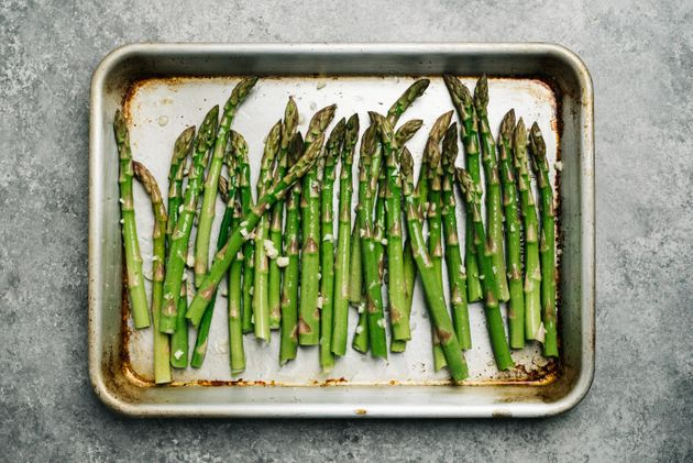 Pop your baking sheet into the oven before you reheat roasted vegetables to ensure a crispy texture.