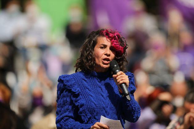 Vanessa Lillo, durante un acto de Unidas