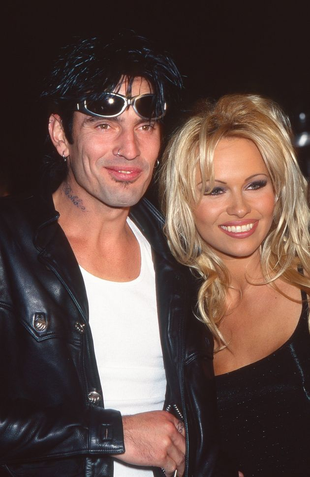 Tommy Lee and Pamela Anderson attend the Barb Wire Party during the 47th Annual Cannes Film Festival...