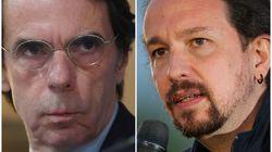 Aznar define con una palabra a Pablo Iglesias tras su marcha de la
