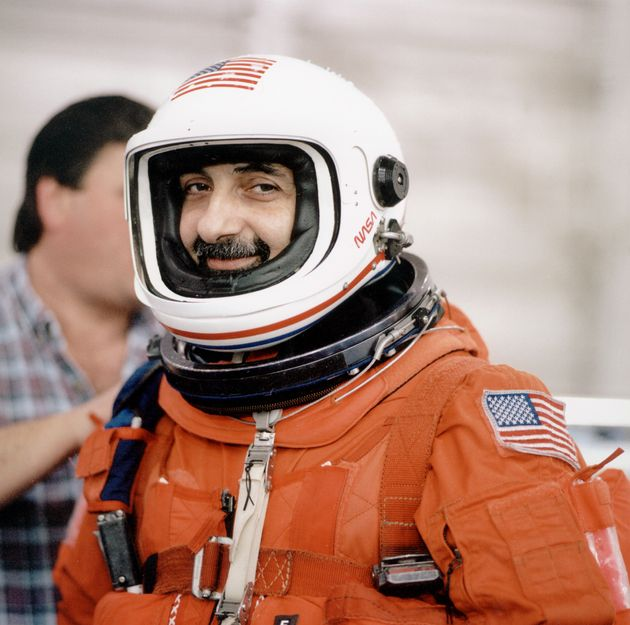 (Original Caption) Guidoni Umberto is trained throughout 2001 in Houston for the STS 100 mission. (Photo...