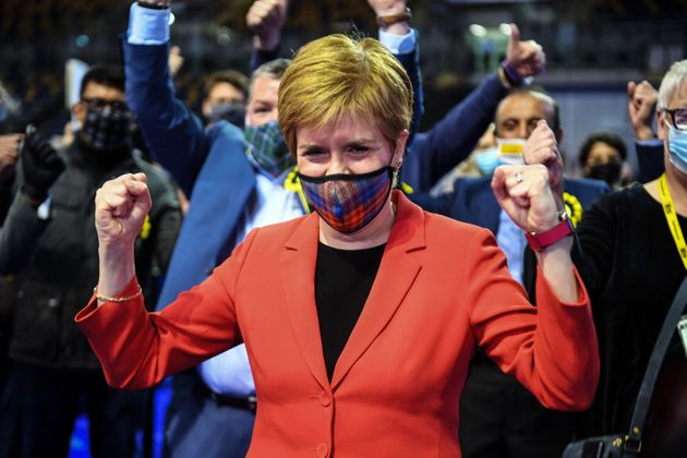 Nicola Sturgeon Hails Emphatic Victory For SNP In Holyrood Elections
