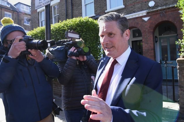 Labour leader Sir Keir Starmer leaving his north London home following the result in the Hartlepool parliamentary...