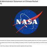 NASA長官、ロケット残骸落下で中国を批判「責任ある基準、満たしていないのは明らか」