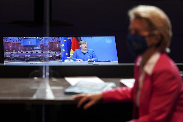 PORTO, PORTUGAL - MAY 8: European Commission President Ursula von der Leyen attends an informal meeting...
