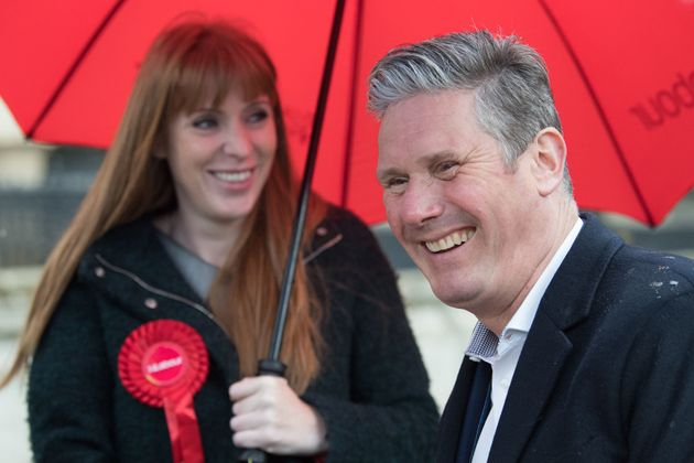 Starmer and Rayner on the campaign trail on Wednesday in