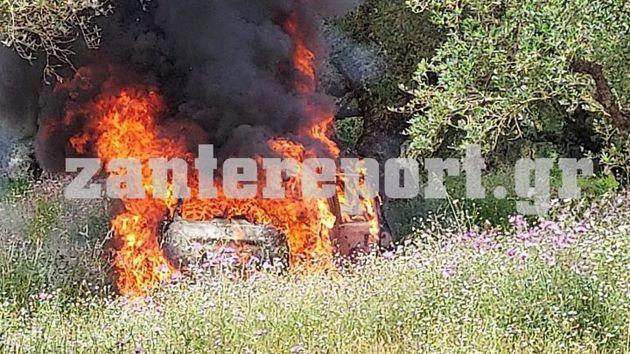 Το αυτοκίνητο του θύματος ενώ