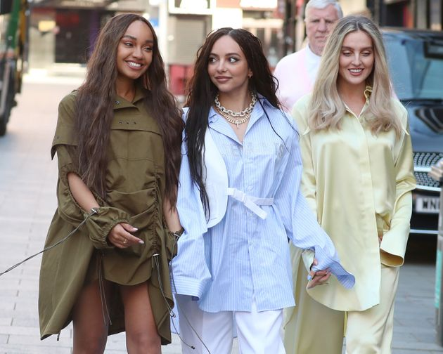 Leigh-Anne with bandmates Jade Thirlwall and Perrie Edwards last