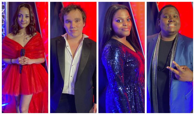 Les finalistes de la dixième saison de The Voice: Marghe, Jim Bauer, Mentissa et