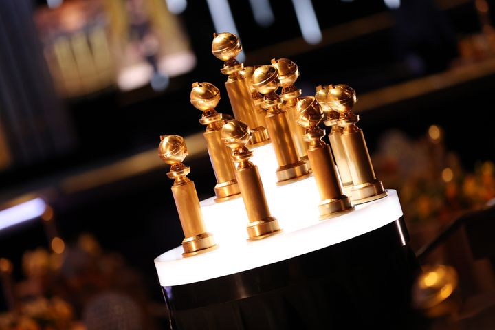 Awards are seen at the 78th Annual Golden Globe Awards, broadcast on Feb. 28, 2021, in Beverly Hills, California.
