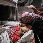 Νεκρά παιδιά στη Γάζα από την αεροπορική επιδρομή του Ισραήλ (σκληρές