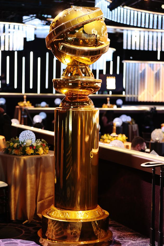 A Golden Globe Award is displayed at the 78th Annual Golden Globe Awards