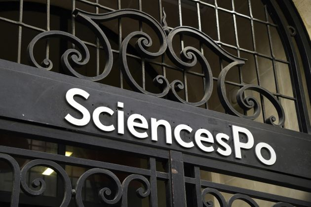 Photo d'illustration: l'entrée de Science Po Paris, le 18 avril