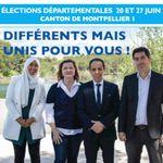 LREM se déchire sur une affiche de campagne avec une candidate