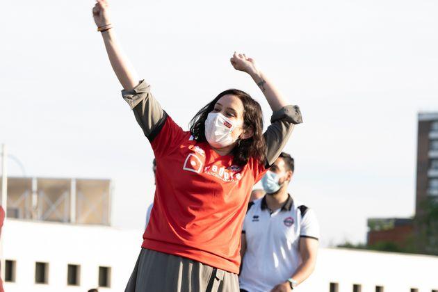 Isabel Díaz Ayuso, durante un acto de