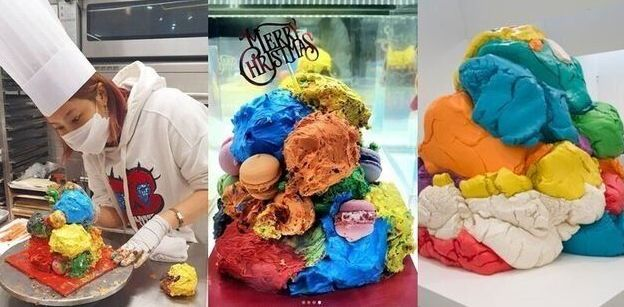현대미술 거장 제프 쿤스 작품을 표절했다는 의혹에 시달린 솔비가 만든 케이크. 이를 두고 이규원 작가는 '팝아트'라는 소견을