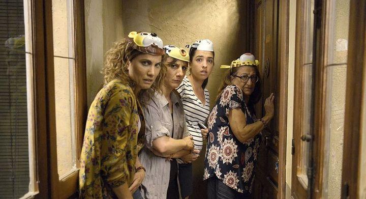Toni Acosta, Malena Alterio, Nuria Herrero y Mamen García en 'Señoras del (h)AMPA'.