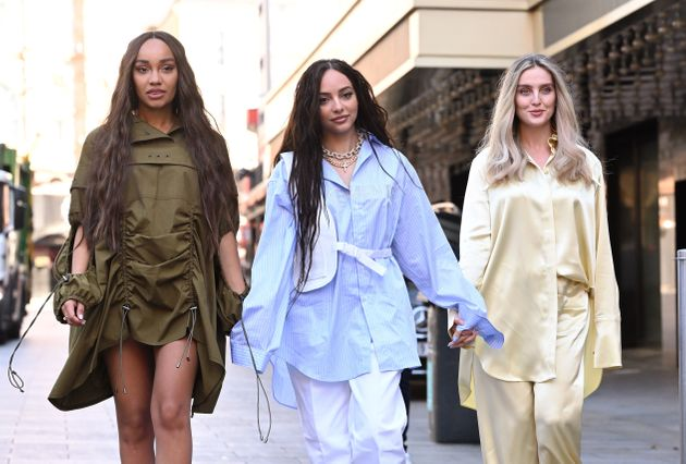Little Mix singers (L-R) Leigh-Anne Pinnock, Jade Thirlwall and Perrie Edwards pictured last