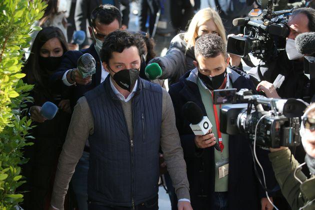 Francisco Nicolas Gómez Iglesias, a su llegada al juicio en la Audiencia Provincial de