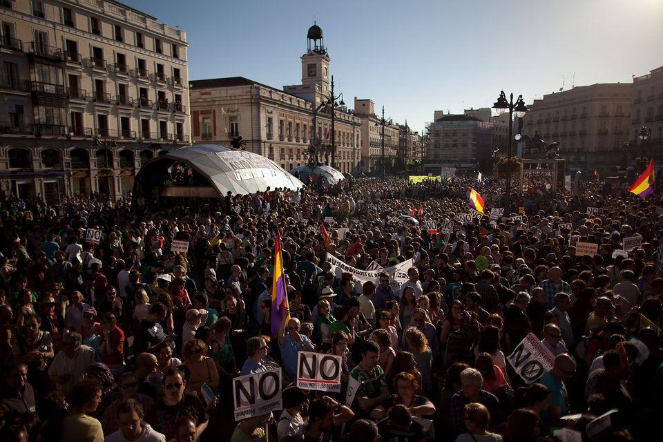15M en la Puerta del Sol, Madrid,