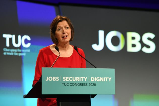 Frances O'Grady, General Secretary of the TUC speaking at the TUC's Congress in London. (Photo by Stefan...