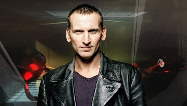 Christopher Eccleston in character as the Ninth