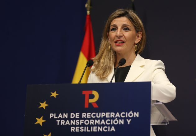 La vicepresidenta tercera y ministra de Trabajo y Economía Social, Yolanda Díaz, en una...