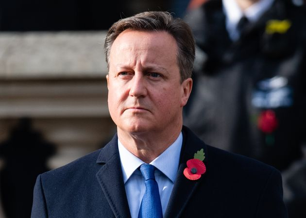 Cameron during the national service of remembrance at The Cenotaph on November 8, 2020, a few months after he lobbied ministers on behalf of Greensill