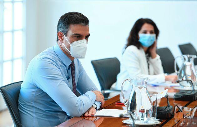 El presidente del Gobierno, Pedro Sánchez, preside la reunión del Comité de Seguimiento...