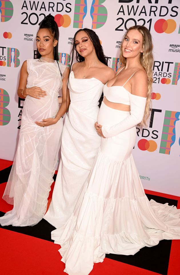 Little Mix on the Brit Awards red