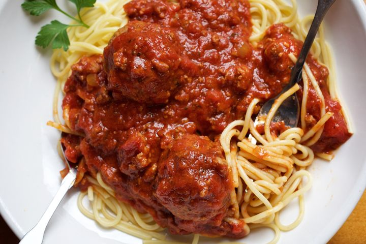 Spaghetti and meatballs has a better nutritional profile than a bowl of Lucky Charms.