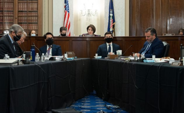 Sen. Amy Klobuchar (D-Minn.), chair of the Senate Rules Committee, holds a meeting Tuesday on S.1, the...
