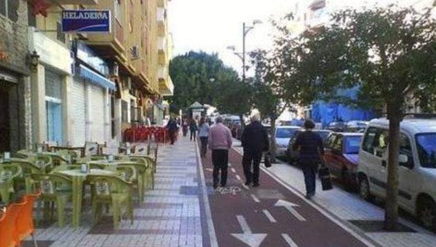 Imagen publicada por la Guardia Civil para pedir que no se use el carril