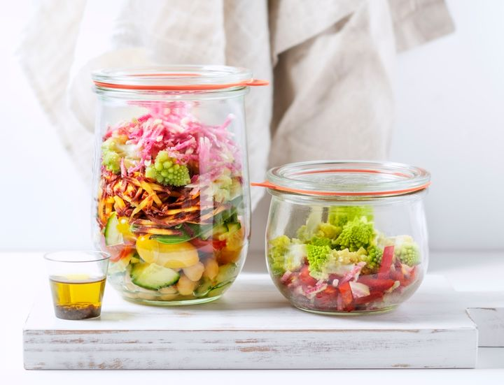 Keep in mind that if you're preparing raw salad ingredients, you shouldn't keep them around longer than 72 hours.