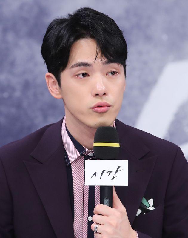 배우 김정현. 2018년 MBC 드라마 '시간' 제작발표회