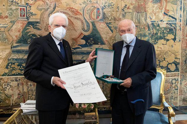 Il Presidente della Repubblica Sergio Mattarella con Piero