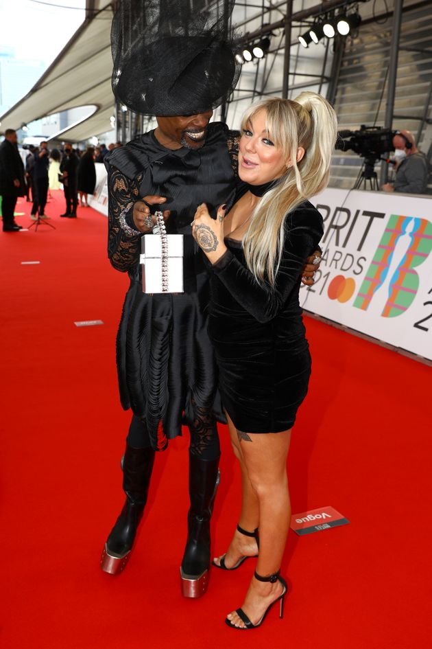 Billy Porter and Sheridan Smtih on the Brits red