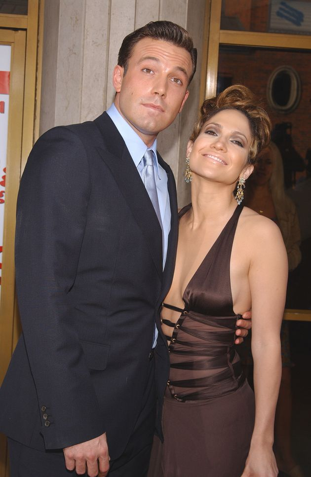 Ben Affleck and Jennifer Lopez at the premiere of