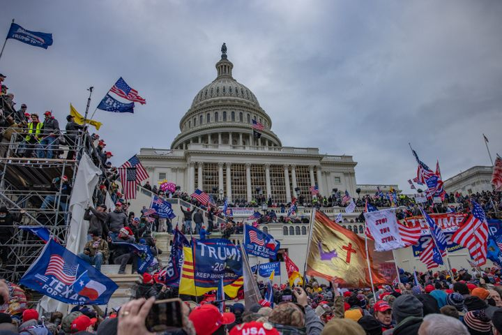 Supporters of former President Donald Trump storm the U.S. Capitol building on Jan. 6, 2021.