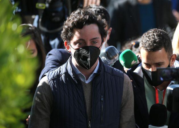 Francisco Nicolás Gómez Iglesias, conocido como el Pequeño Nicolás, entrando en la Audiencia Provincial...